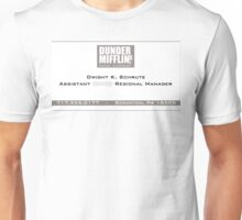Dwight Schrute Business Card Unisex T-Shirt