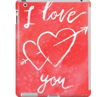 Valentines lettering card I love you iPad Case/Skin