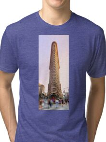 Flatiron building facade Tri-blend T-Shirt