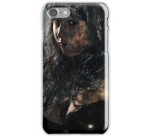 Zombie horror glamour girl iPhone Case/Skin