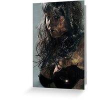 Zombie horror glamour girl Greeting Card