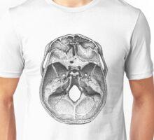Cutaway human skull Unisex T-Shirt
