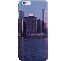 Manhattan panorama at sunrise iPhone Case/Skin