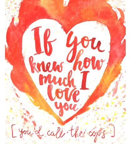 Valentine's day watercolor card Sticker
