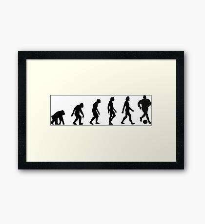 The Evolution of Football Framed Print