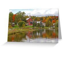 Autumn in Mont Ste-Marie, Quebec Greeting Card