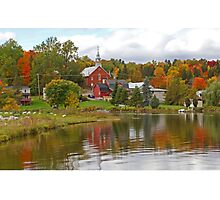 Autumn in Mont Ste-Marie, Quebec Photographic Print