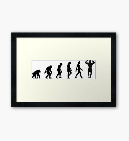 The Evolution of Bodybuilding Framed Print