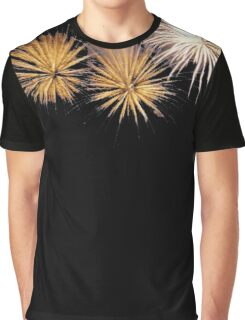 Golden Fireworks Graphic T-Shirt