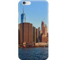 Manhattan sunrise panorama iPhone Case/Skin