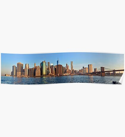 Manhattan sunrise panorama Poster
