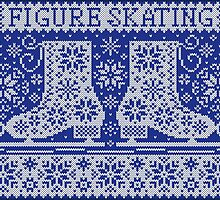 Knitted jacquard pattern figure skating by olgart