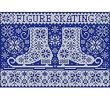 Knitted jacquard pattern figure skating Photographic Print