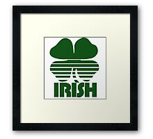 Retro Irish Shamrock Framed Print