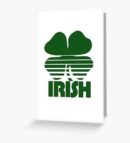 Retro Irish Shamrock Greeting Card
