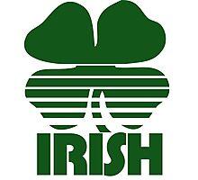 Retro Irish Shamrock Photographic Print