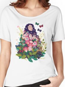 Floral Dream in Green Women's Relaxed Fit T-Shirt