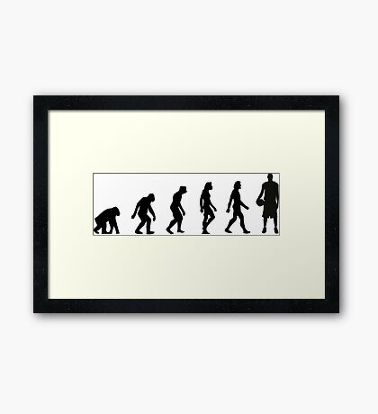 The Evolution of Basketball Framed Print