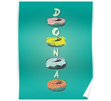 Donuts illustration Poster