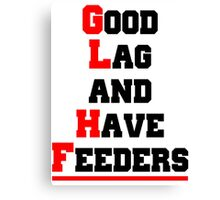Good lag and have feeders Canvas Print