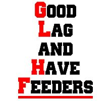 Good lag and have feeders Photographic Print