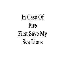 In Case Of Fire First Save My Sea Lions  by supernova23