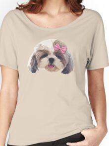 CUTE SHITZU DOG Women's Relaxed Fit T-Shirt