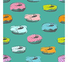 Donuts pattern Photographic Print