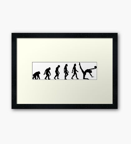 The evolution of Gymnastics Framed Print