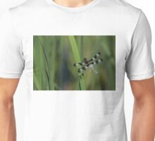 Pond Jewel - Black and White Dragonfly Unisex T-Shirt