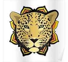 Retro Leopard Poster
