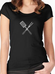 BBQ Utensils Women's Fitted Scoop T-Shirt
