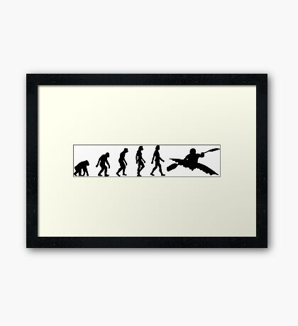 The Evolution of kayaking Framed Print