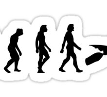 The Evolution of kayaking Sticker