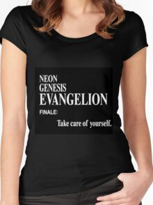 Neon Genesis Evangelion Finale Women's Fitted Scoop T-Shirt