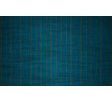 Blue & Bronze PinStripes Photographic Print