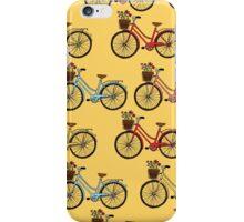 I love bikes yellow iPhone Case/Skin