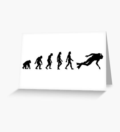 The Evolution of Scuba Diving Greeting Card