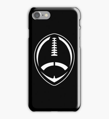 White Vector Football iPhone Case/Skin
