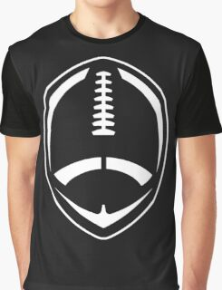 White Vector Football Graphic T-Shirt