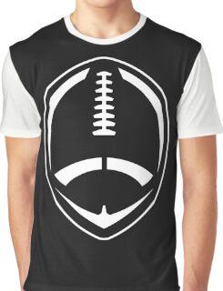 White Vector Football Graphic T-Shirt