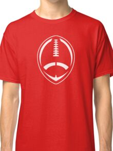 White Vector Football Classic T-Shirt