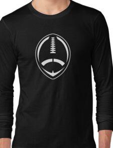 White Vector Football Long Sleeve T-Shirt