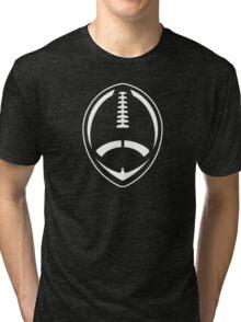 White Vector Football Tri-blend T-Shirt