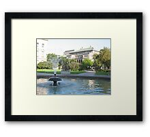 Library Mall Fountain Framed Print