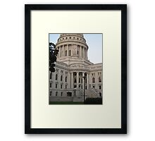 Capitol Building - Madison, WI Framed Print