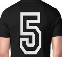 5, TEAM SPORTS, NUMBER 5, FIFTH, FIVE, Competition, WHITE Unisex T-Shirt