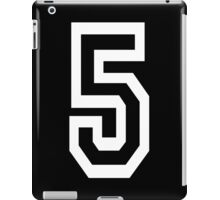 5, TEAM SPORTS, NUMBER 5, FIFTH, FIVE, Competition, WHITE iPad Case/Skin