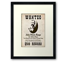 Johnny Ringo Wanted Poster Framed Print