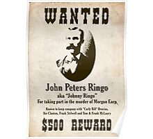 Johnny Ringo Wanted Poster Poster